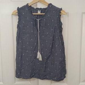 Old navy blue denim blouse size s